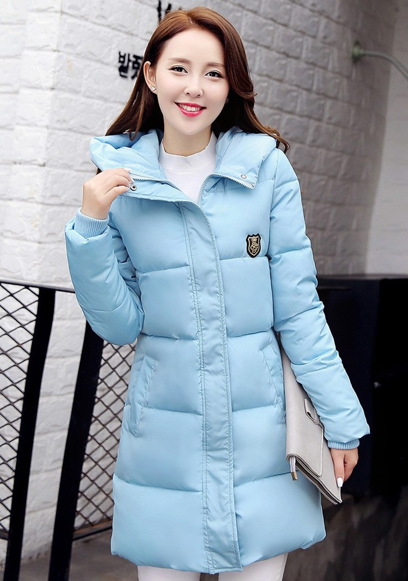 Winter Jacket Women Slim Female Coat Thicken Parka Down Cotton Clothing Red Clothing Hooded Student (8)