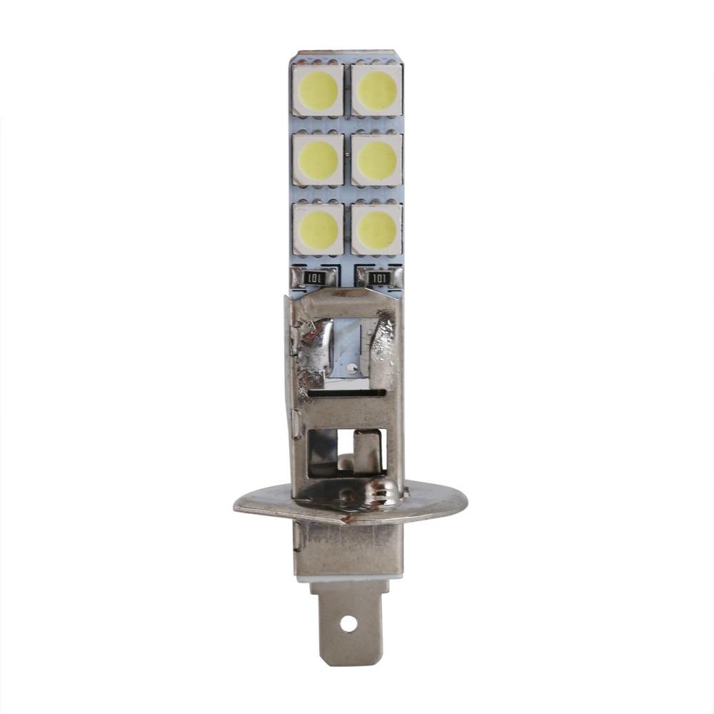 medium resolution of 10pcs 12v h1 12 led replacement headlight fog light bulbs bright white 5050 thin flat lights 6000k car accessories in car headlight bulbs led from