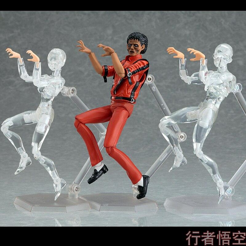 Rare MJ Michael Jackson Thriller Red MV Joint Figure Doll Model H15cm