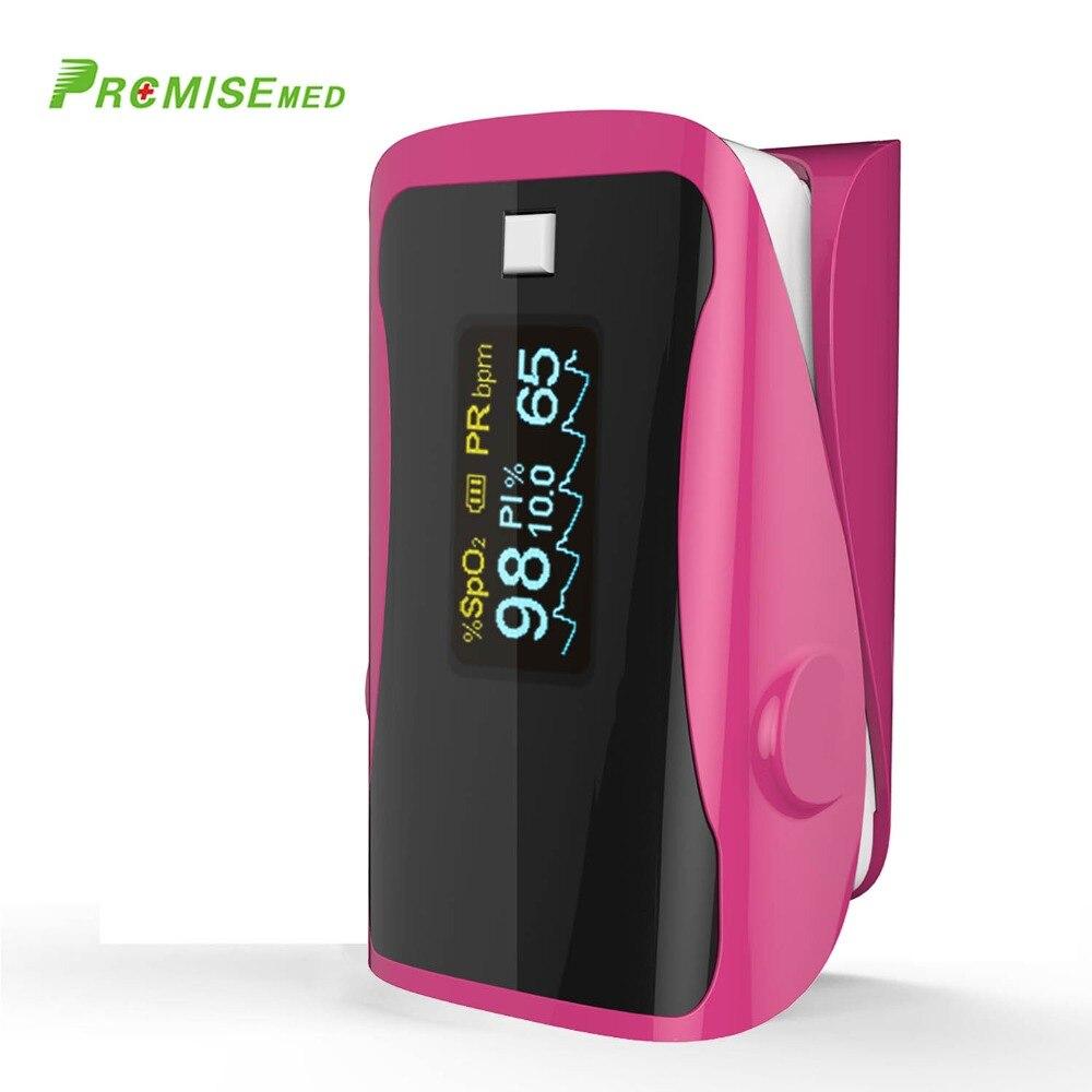Prcmisemed новые анализаторы здоровья для дома Пульсоксиметр CE монитор Нажатием Пульсоксиметр SPO2 оксиметр силиконовый датчик-милый розовый