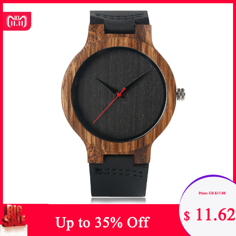Fashion Top Gift Item Wood Watches Men's Analog Simple Bmaboo Hand-made Wrist Watch Male Sports Quartz Watch Reloj de madera цена