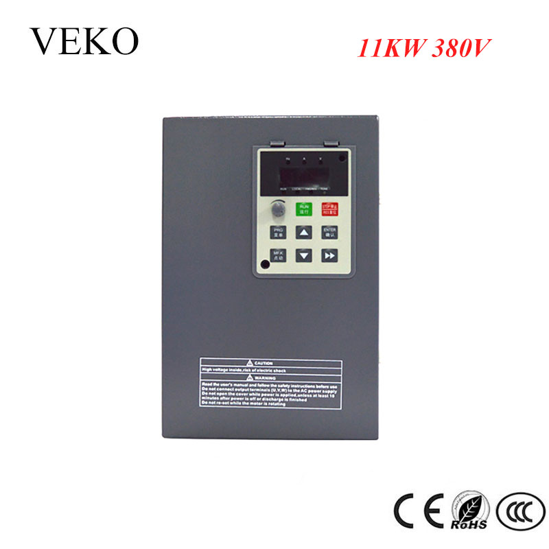 11KW 380V 3Phase Input 25A Frequency Inverter Triphase 3 Phase Output VFD Frequency Converter Motor Speed