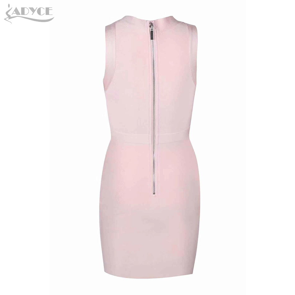 2018 Women's Mini Bandage Dress Sexy  sleeveless hollow out Bodycon Club Party Dresses Vestidos Wholesale