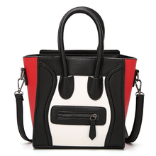 цены The cartoon face PU Leather Top-handle Women Handbag Solid Ladies Lether Shoulder Bag Casual Large Capacity Tote Crossbody Bags