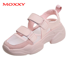 2019 New Designer Summer Sneakers Women Shoes Sport Shoes Woman Sneakers Chunky White Pink Sneakers Hollow Casual Female Sandals women s sneakers ugly sneakers dino albat rc06 1252 5 summer runing shoes sport shoes textile for female ship from russia