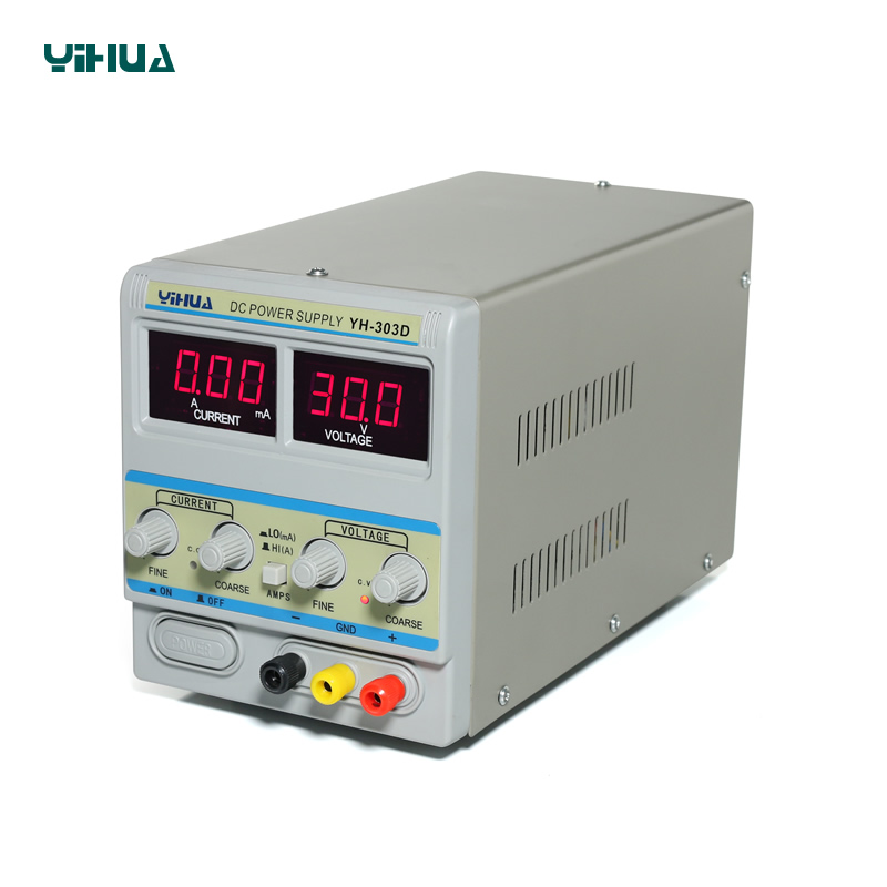 YIHUA 303D DC Power Supply 30V 3A For Lab Working Tool Power Supply dc044a tip 2 5mm dc power plugs connectors dc 30v 0 3a for desktop laptop 10pcs