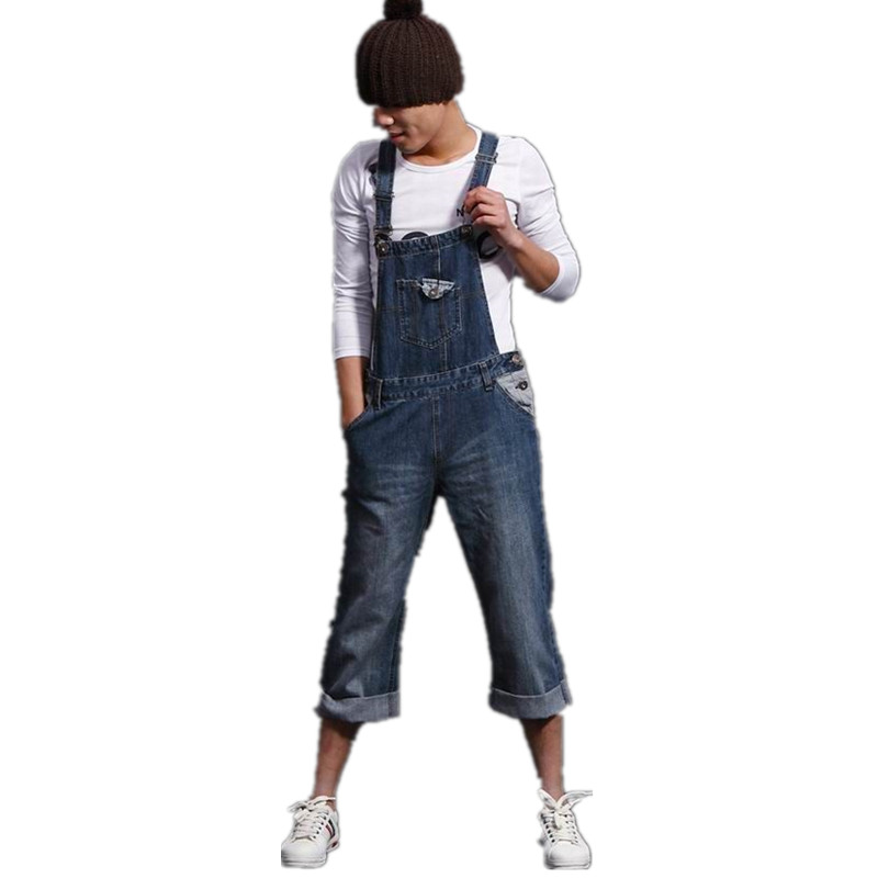 Fashion casual loose denim overalls Men Large size cargo pants Male jeans jumpsuits Spring vintage sexy denim Trousers 062902 2016 new fashion men vintage trousers casual jeans pants loose plus size 28 42 overalls overalls denim jumpsuit