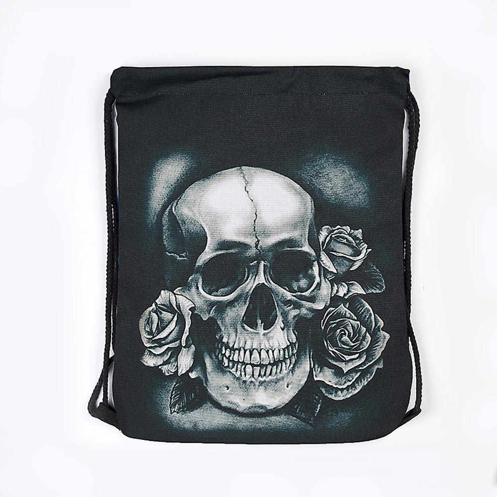 ... Unisex Drawstring bag Halloween Skull Backpacks 3D Printing Bags  Drawstring Pouch Draw String Bags # ...