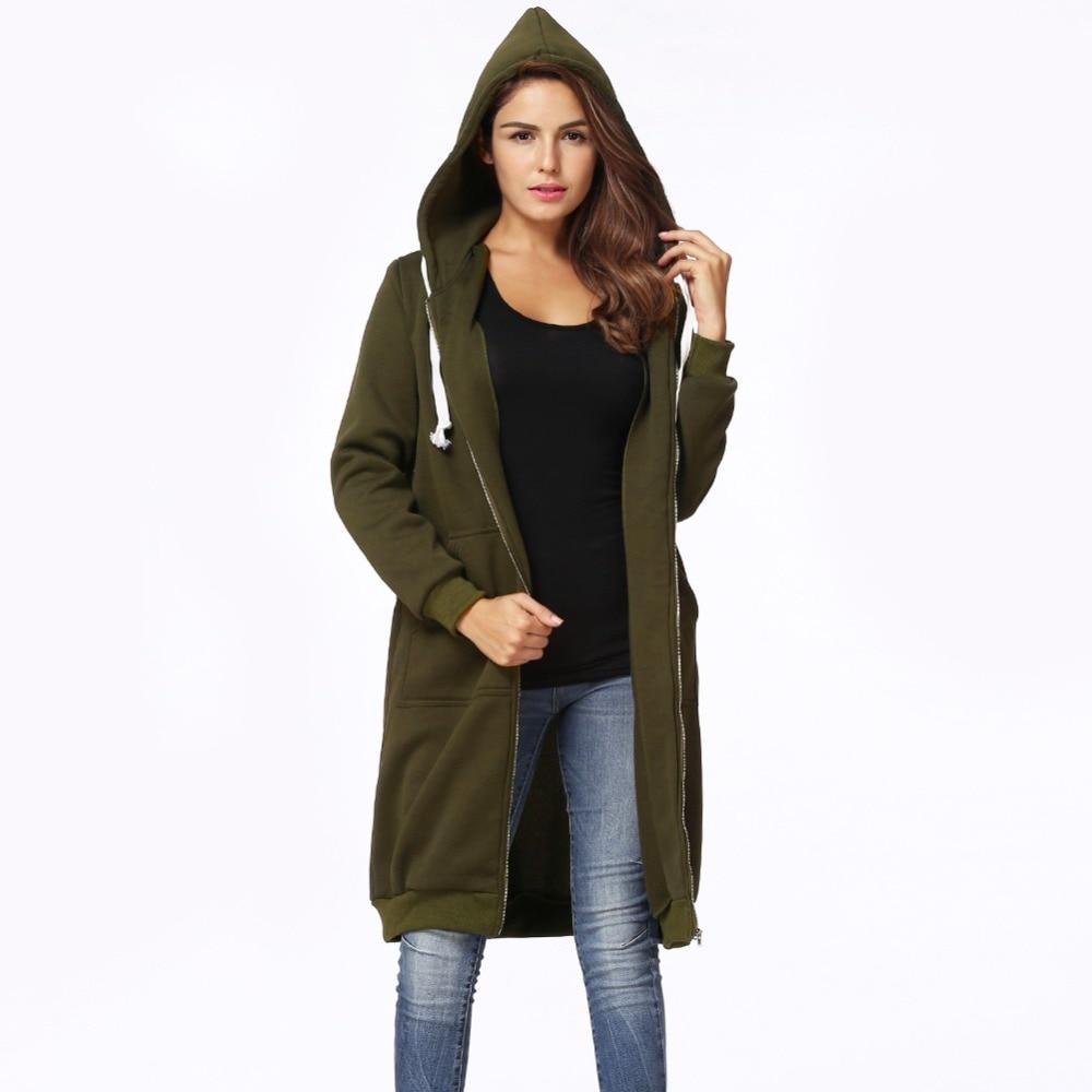 Übergroßen Hoodies Sweatshirt Frauen Lange Mit Kapuze Jacke Mantel 2018 Herbst Tuniken Taschen Zip Up Oberbekleidung 3XL 4XL 5XL Plus Größe top