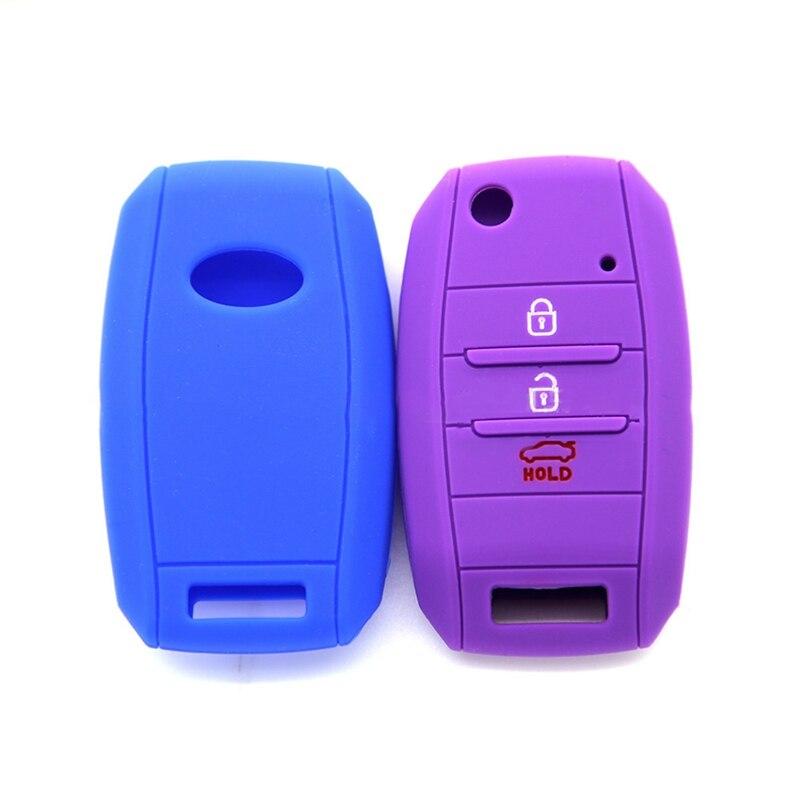 3 4 Button Fit For Kia Sportage Cerato Optima K5 Rio Carens Rondo Cee'd Picanto K2 Soul Sorento Ski Silicone Key Cover Case Fob