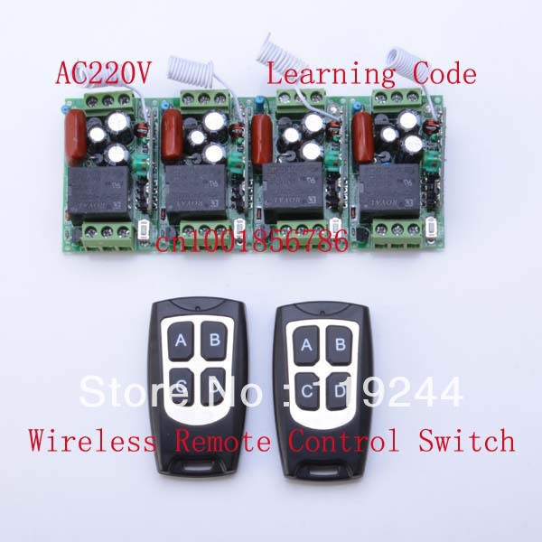 220V 1CH 10A 4Receivers(Mini size)+2Transmitter(Waterproof) RF Wireless Remote Control Power Switch System For Home Smart 220v wireless remote control switch system rf 4 receivers 3transmitter for led light lamp freeshipping