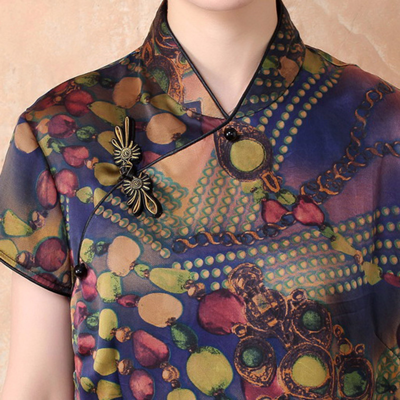 6fb8d3c2141 Summer 100% Silk Women Traditional Shirt Silkworm Blouse Blusa Chinese  Female Buttercup Silk Shirt Tops Mujer Camisa TYR7071-in Blouses   Shirts  from ...