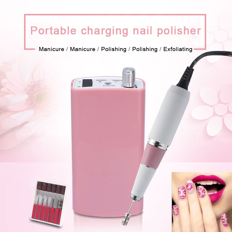 30000 RPM Cordless Nail File Drill Kit Electric Manicure Pedicure Nail Art Machine 18W Portable Charging Nail Polisher