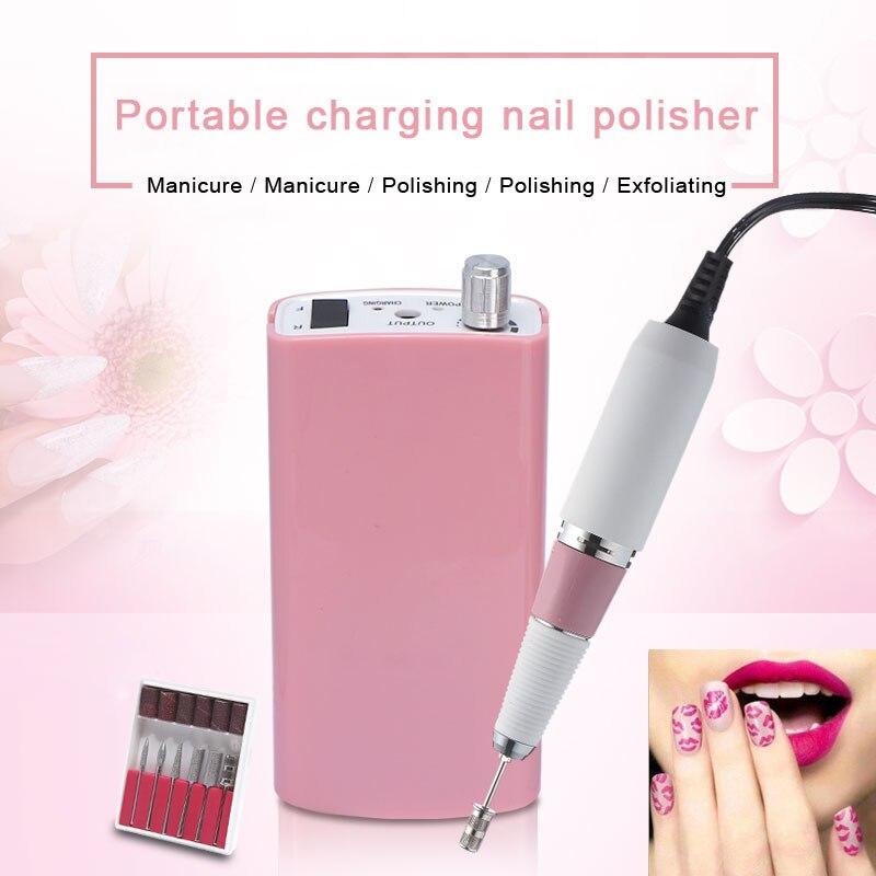 30000 rpm Sans Fil Nail File Perceuse Kit Électrique Manucure Pédicure Nail Art Machine 18 w Portable De Charge Nail Polisseuse