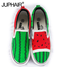 Wholesale Retail Child Casual Low Baby Shoes Watermelon Summer Autumn Girl's Boy Fashion Canvas Down Hand Painted Cartoon Shoes цена