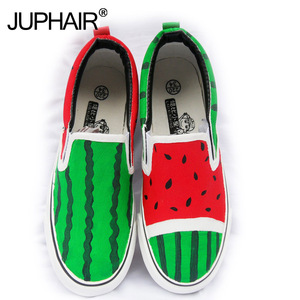 Wholesale Retail Child Casual Low Baby Shoes Watermelon Summer Autumn Girl's Boy Fashion Canvas Down Hand Painted Cartoon Shoes