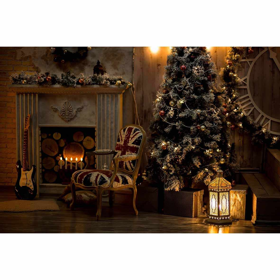 Yeele 10x8ft Christmas Photography Backdrop Abstract Bokeh Lights Background Xmas Room Decoration Kids Adult Portrait Photo Booth Photoshoot Props Wallpaper