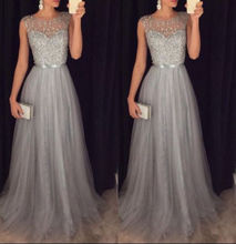2018 New Women Formal Dresses Evening Party Ball Prom Sexy Gown Sequin Fashion Long