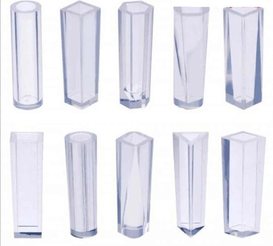10 ピース/セット diy ペンダント液状シリコーン型樹脂の宝石のペンダント金型手作り装飾ツールシリンダー台形クリスタル