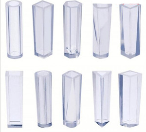 Image 2 - 10pcs/Set DIY Pendant Liquid Silicone Mold Resin Jewelry Pendant Mould Handmade Decoration Tools Cylinder Trapezoid Crystal