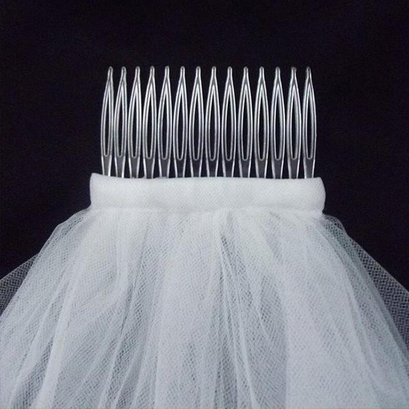 Wedding accessories Short Veil Wholsale Simple Tulle Wedding Veils Bridal Accesories White Ivory Wedding Veils ACCESORIES OV1001