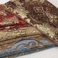 100x145 cm Décoratif Oreiller Tissu Maille Pour Bricolage Bourse Jouets Jacquard Tissu Floral Textile Matériel Tecido Canapé Chenille tissu