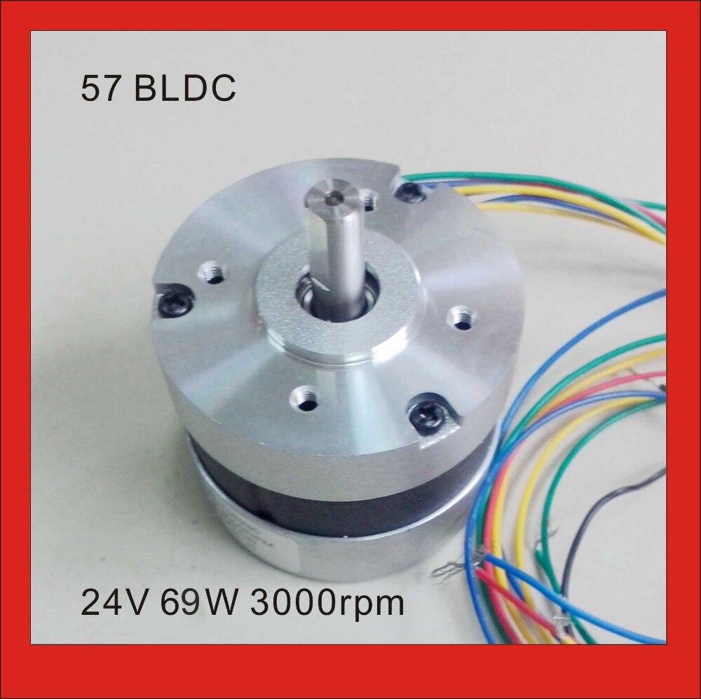 BLDC Motor 24V 3000rpm 3 Pase Brushless DC Motor 69W 28oz-in 57mm diameter цена