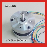 BLDC Motor 24V 3000rpm 3 Pase Brushless DC Motor 69W 28oz in 57mm diameter