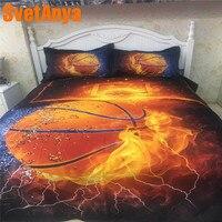 Svetanya Pillowcase+Duvet Cover Bedding Set (no Sheet) Fire Basketball Bedlinen Twin Full Queen Double King Size
