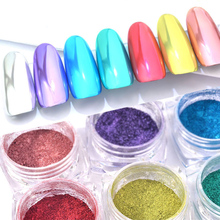 1 Box Super Bright Rose Gold Nail Magic Mirror Powder Silver Flour Optical Metallic Manicure Decoration