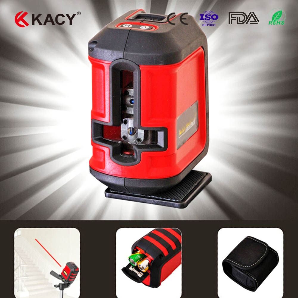 Фотография KACY FREE SHIPPING 1PC hot sale AL04 360 degree Self-leveling automatic cute Cross Laser Level Tools