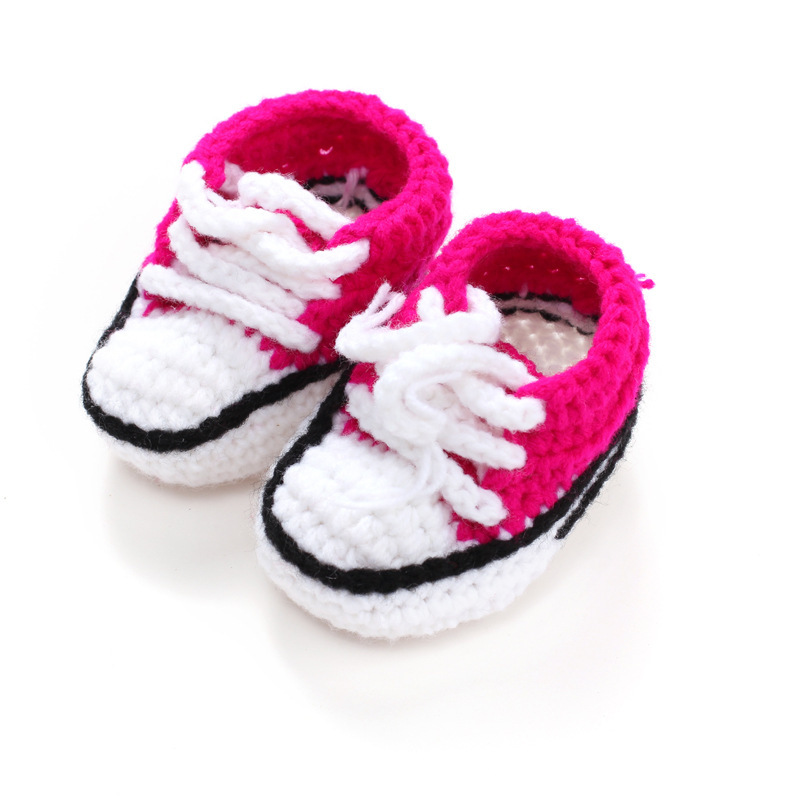 Multicolor-Knitted-Baby-Crib-Shoes-Handmade-Infant-Crochet-Booties-Lace-up-Newborn-Shoes-10cm-4