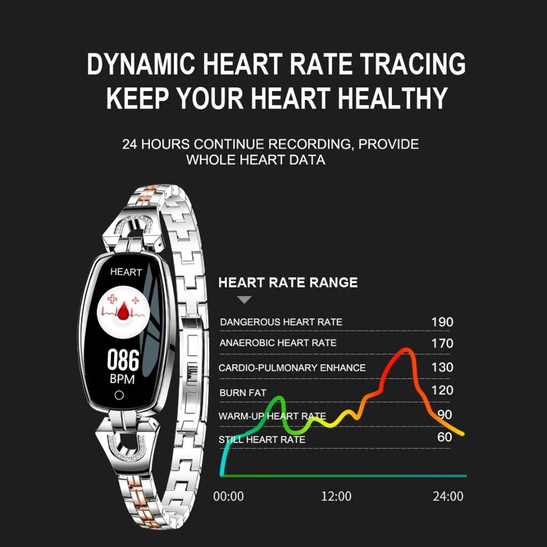 Multifunctional Outdoor Sport Ladies Waterproof  Pedometer Band Smart Bracelet Heart Rate Sleep Monitor Blood Pressure Pedometer