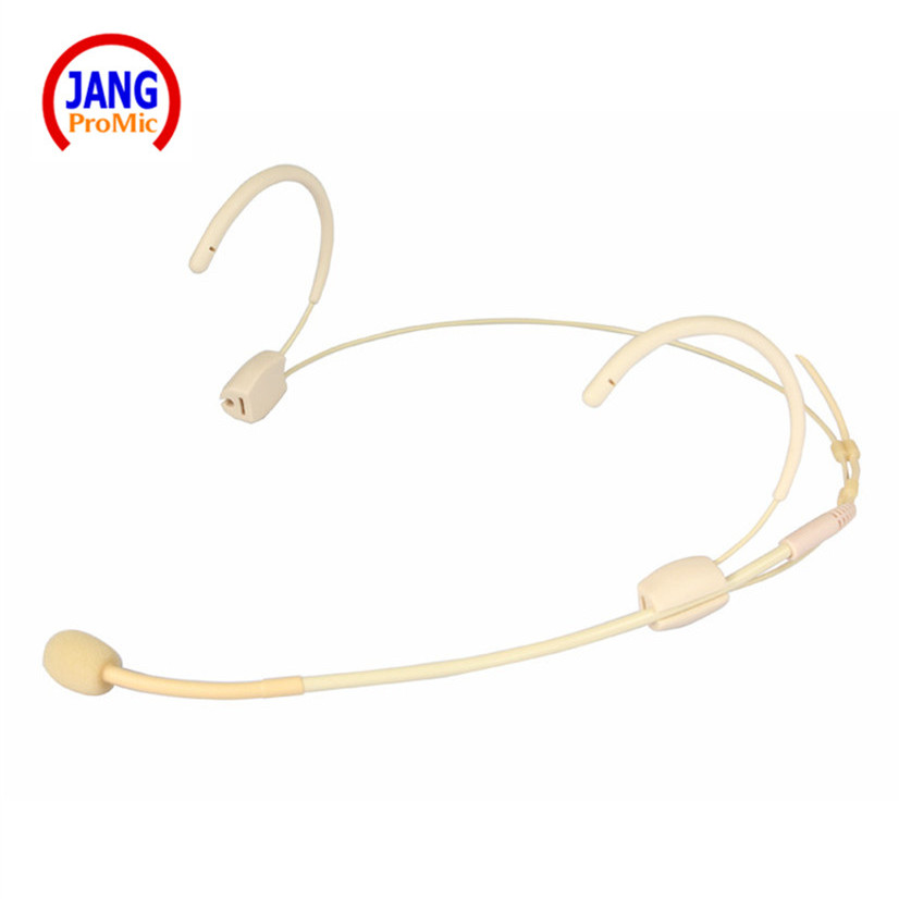 Professional Headset Condenser Microphone Host Beige Show Microfone for Shure Wireless Transmitter etc XLR Mini Mikrofon in Microphones from Consumer Electronics