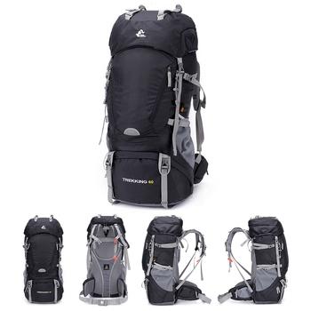 Darmowy rycerz 60L plecak wodoodporny do wędrówek torby wspinaczkowe plecak z pokrowcem przeciwdeszczowym sportowa torba na zewnątrz Trekking plecak taktyczny tanie i dobre opinie FREE KNIGHT CN (pochodzenie) FK0392 hiking backpacks 60l Unisex Climbing hiking travel backpack fishing hunting Wewnętrzna przegroda
