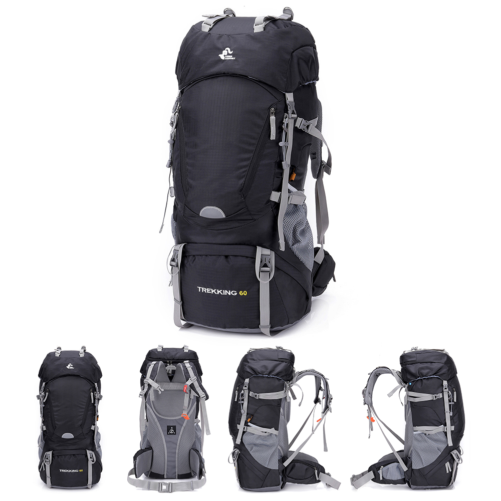 Free Knight 60L Waterproof Hiking Backpack Climbing Bags Rucksack with Rain Cover Sport Outdoor Bag Trekking Tactical Backpack in Climbing Bags from Sports Entertainment