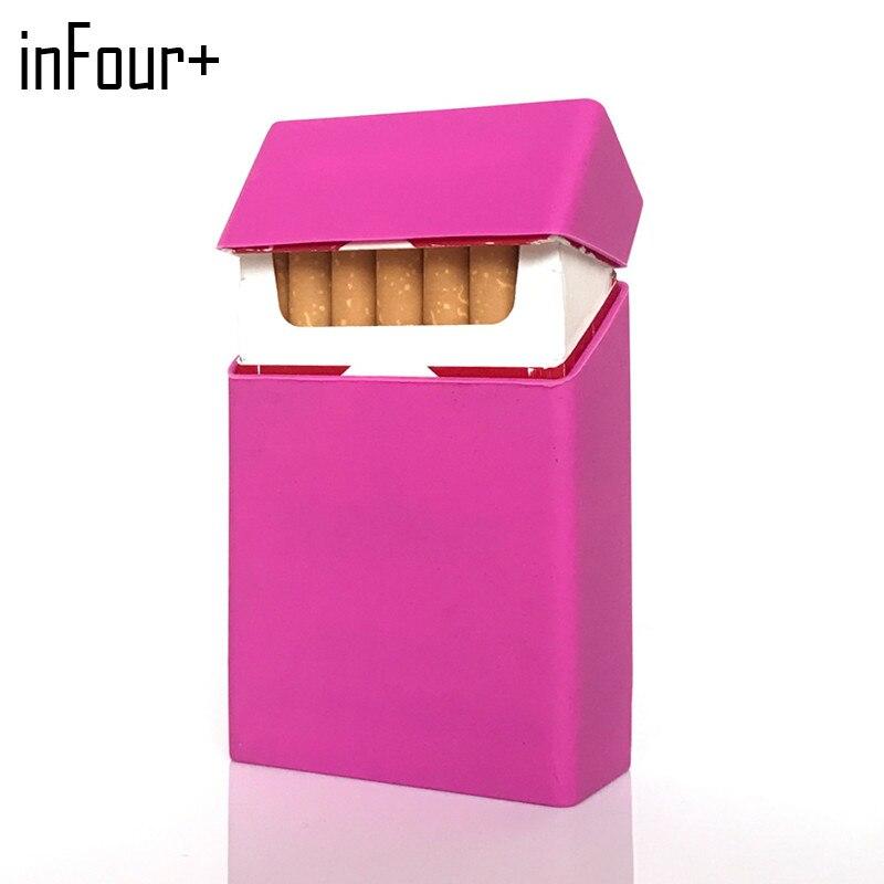 New Holds 20 Cigarettes Hot Black Silicone Cigarette Case