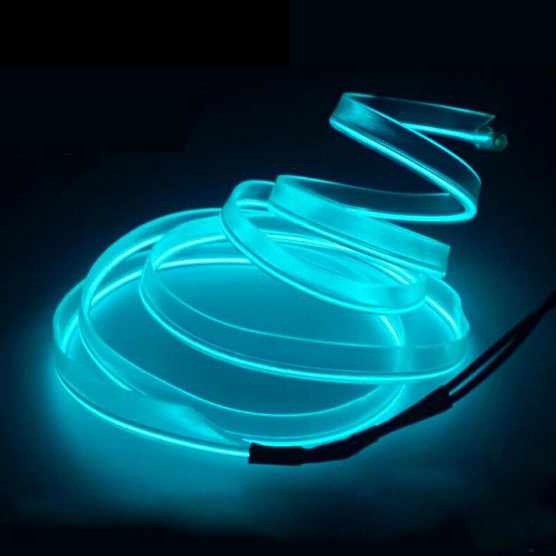 Светодиодный неоновый холодный автомобильный светильник RGB, комнатный светильник для украшения автомобиля, светящиеся полоски, usb/сигары, с...