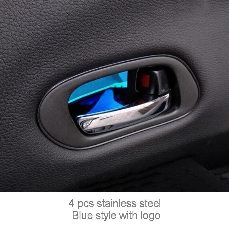 Tonlinker внутренняя дверная ручка чаши крышка наклейка s для HONDA VEZEL HRV-19 автомобильный Стайлинг 4 шт. крышка из нержавеющей стали наклейка - Название цвета: blue