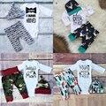 Christmas Baby Boy Девушка, Набор Одежды Мой Первый День Рождения Наряд Для Новорожденного Шляпу + Боди + Брюки 3 ШТ. Костюм Ребенок Олень Одежда 11 11