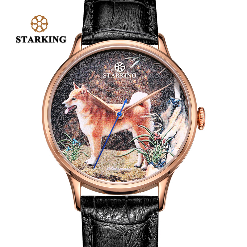 <font><b>STARKING</b></font> <font><b>Watch</b></font> New Design Year Of The Dog <font><b>Watch</b></font> Automatic Self-wind <font><b>Watch</b></font> Men 50m Water Resistant Relojes Hombre Dropship image
