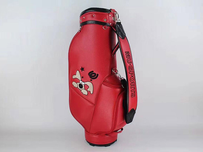 Brand New MU SPORTS Golf Standard Ball Package MU SPORTS Golf Bag PU Red Color Golf