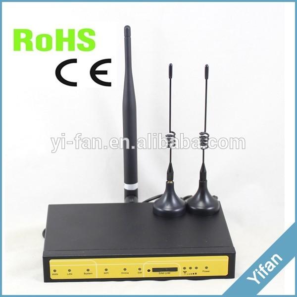 F3426 uma Wan uma Lan uma Porta Serial industrial 3g wifi router vpn para monitoramento de geração de energia solar, ônibus WI-FI