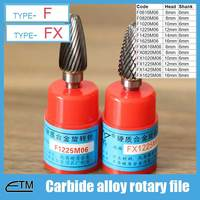 1 Piece Tungsten Carbide Alloy Rotary File Milling Cutter Drill Bit For Carving Sculpture Type F