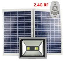 100W RF Remote Controller Solar LED Outdoor Flood Light  Lampr Garden Street dimming light