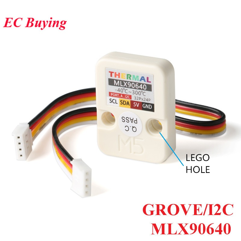 Module de caméra série M5Stack capteur d'imagerie thermique infrarouge MLX90640 avec panneau de développement GROVE/I2C 32x24 P M5GO FIRE