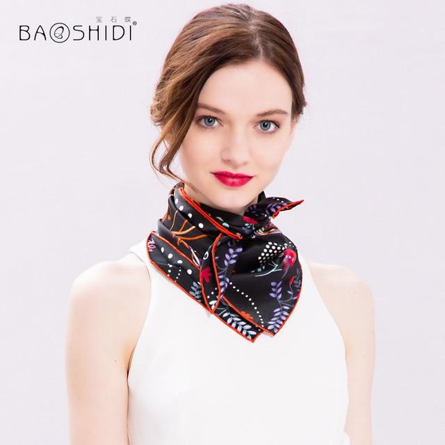 5270b476e9a0  BAOSHIDI 100% Silk Scarf Women