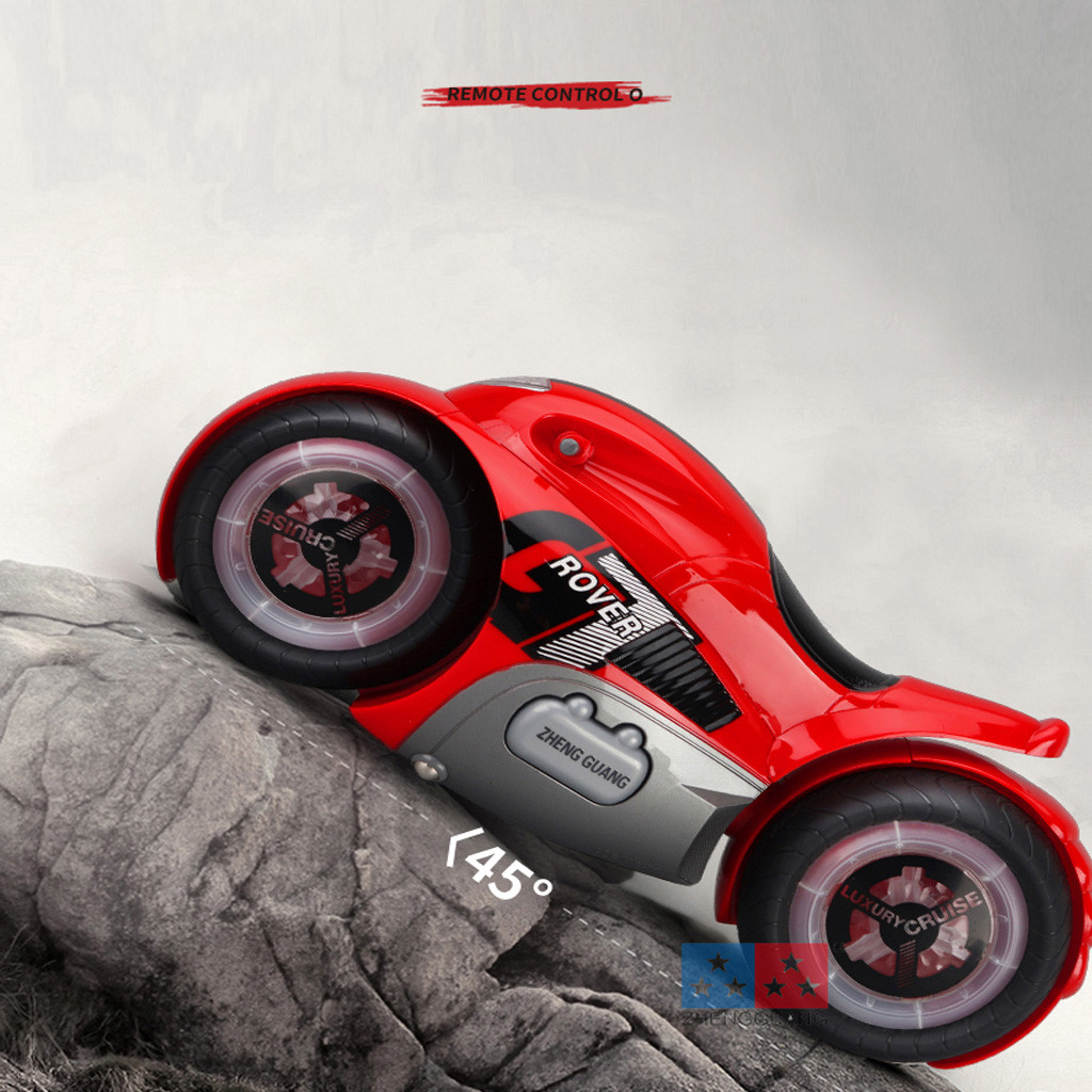 Remote control car toy 2019 NEW 1:14 Body music lights RC Motorcycle Rear Wheel Drive Drift Motorcycle Stunt Toy 6.4