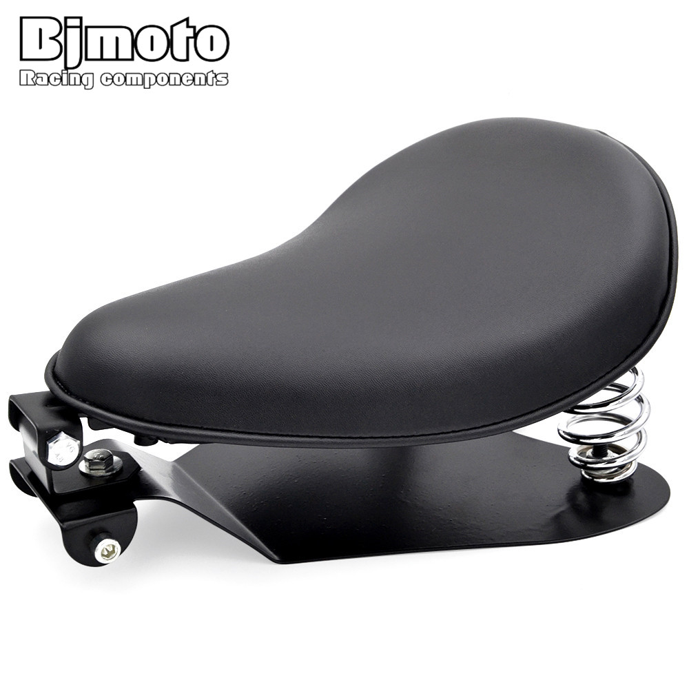 BJMOTO Motorcycle Solo Seat Baseplate Springs Driver Seat Pad Saddle Mounting Bracket For Harley Sportster 883 Bobber Chopper possbay retro black motorcycle solo seat with mount bracket springs for harley custom chopper bobber leather saddle seat