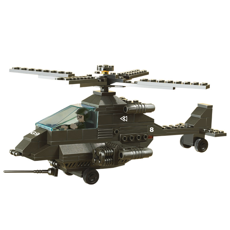 Sluban Model Building Compatible lego Lego B6200 158pcs Model Building Kits Classic Toys Hobbies Apache Fighter